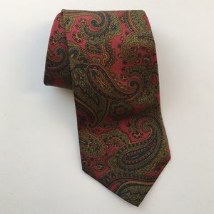 VTG Liberty of London Paisley 100% Silk Tie USA